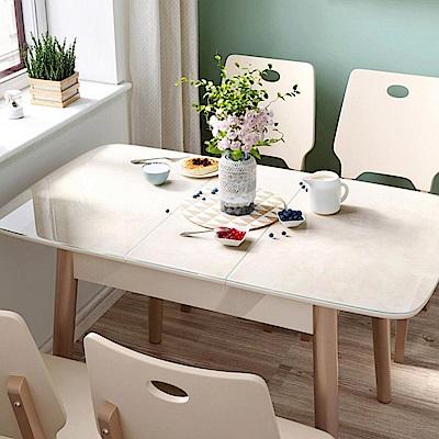hoi! 時尚簡約大理石紋鋼化玻璃折疊餐桌 1.2M LS159-玫瑰金色 (H014263089)