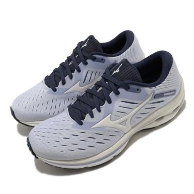Mizuno 慢跑鞋 Wave Rider 24 寬楦 女鞋 美津濃 輕量 透氣 舒適 避震 路跑 藍 白 J1GD200614