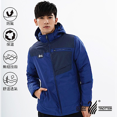 【遊遍天下】男款防風透濕保暖無車縫羽絨機能外套GJ22003寶藍