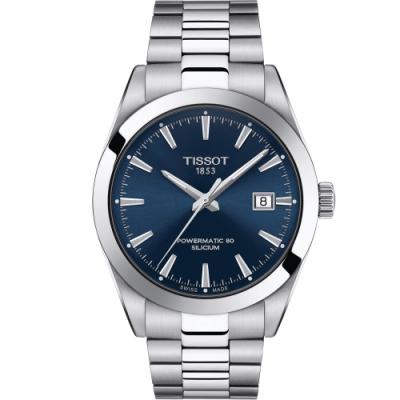 TISSOT GENTLEMAN 紳士的品格機械錶(T1274071104100)