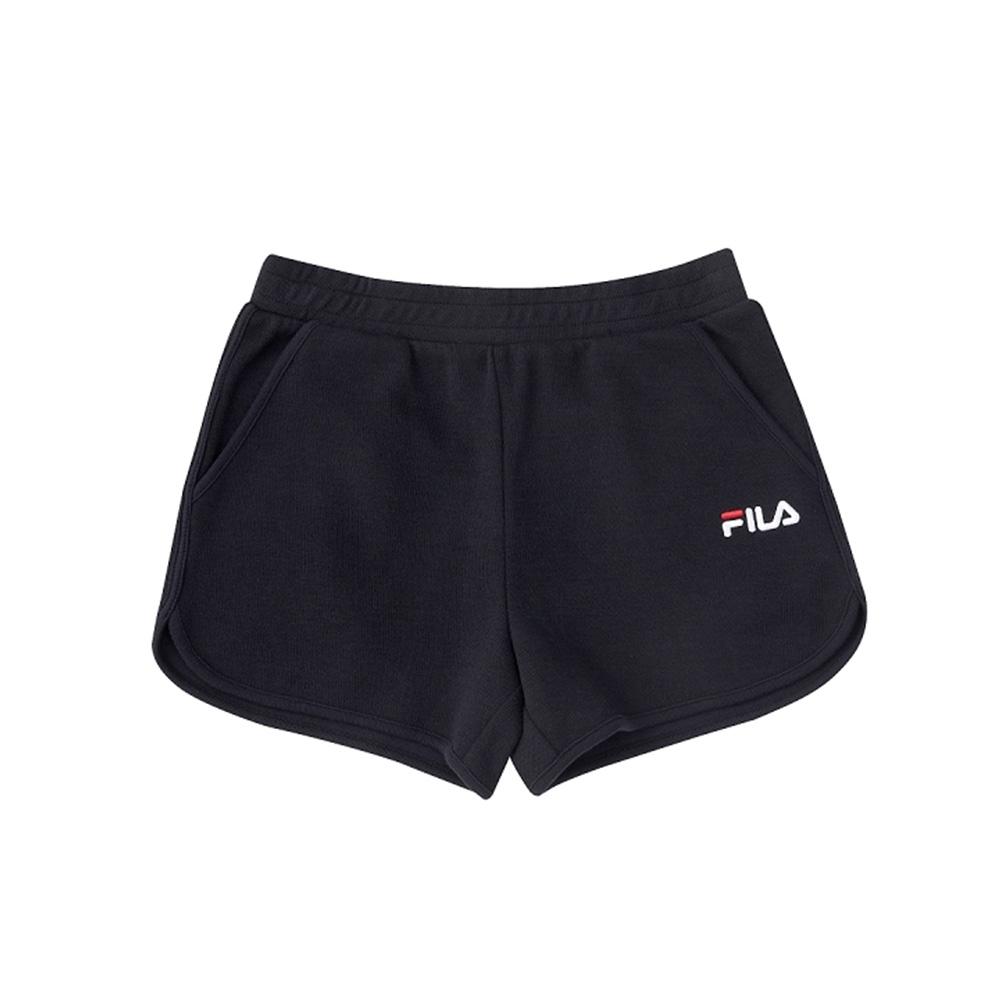 FILA KIDS 女童針織短褲-黑 5SHV-4507-BK