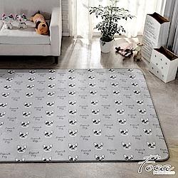 FOCA汪汪派對  北歐簡約-100%云芙絨透氣多功能地墊-韓國設計(遊戲墊/床鋪墊)