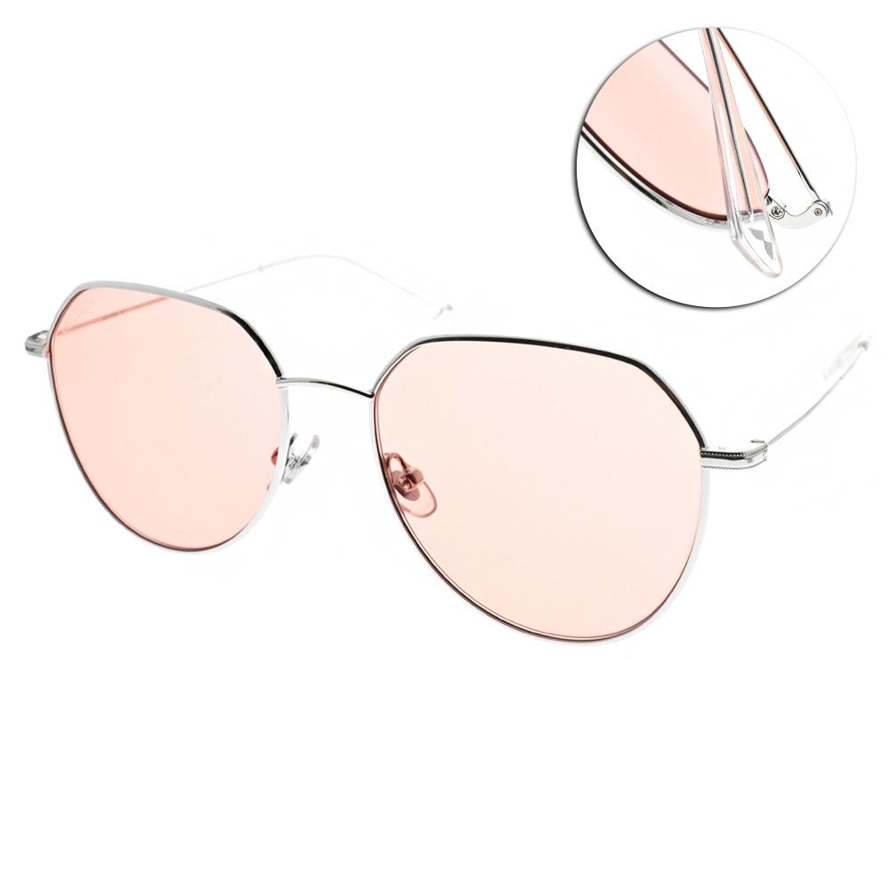 MOLSION 繽紛色太陽眼鏡 Angelababy代言 銀-粉橘 #MS7071 B91