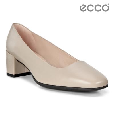 ECCO SHAPE 35 SQUARED 時裝粗跟方頭高跟鞋 女-裸色