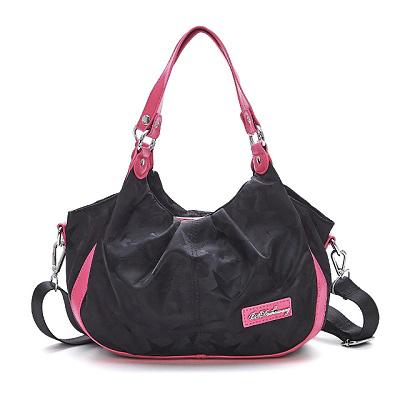 B.S.D.S冰山袋鼠-香巧班尼x托特購物造型手提側背兩用包-黑桃色
