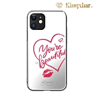 Kingxbar iPhone 11 Pro Max施華洛世奇水鑽鏡面保護殼-愛心