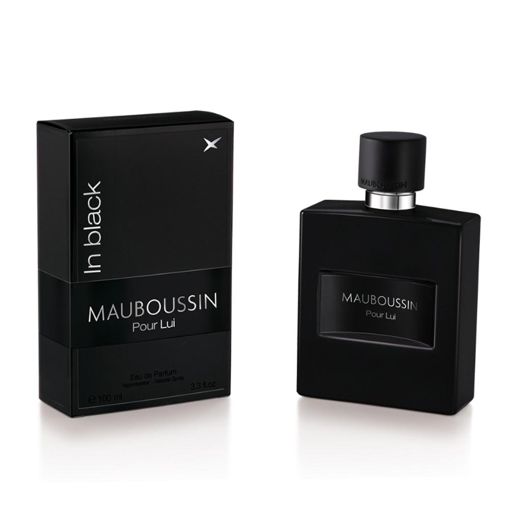 【即期品2021.12】MAUBOUSSIN Pour Lui In Black 夢寶星黑色絕對男性淡香精50ml