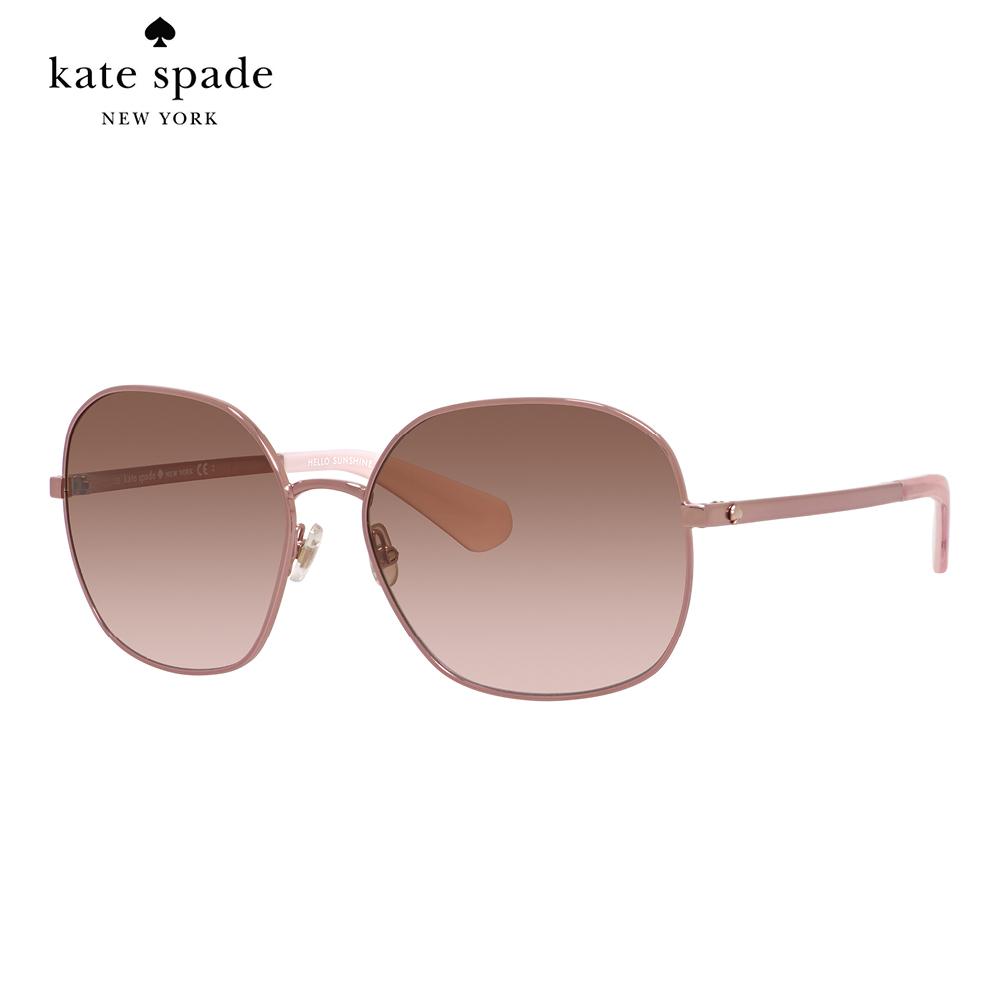 Kate Spade CRELISA/S-時尚方框太陽眼鏡 粉色