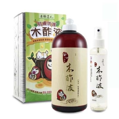 【木酢達人】精餾木酢液原液500ml 附噴霧瓶150mlx1 (肌膚清潔用)