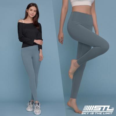 STL YOGA Leggings VolumUp 韓國瑜珈『無尷尬線』中高腰 PowerPrima高塑型 運動機能訓練緊身長褲 早晨乾燥藍