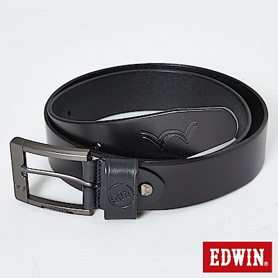 EDWIN 橢圓網點頭皮帶-黑色
