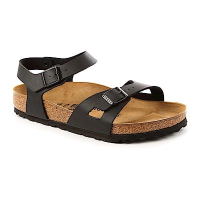 勃肯BIRKENSTOCK 031791。RIO里約 單片交叉繞踝涼鞋(黑色)