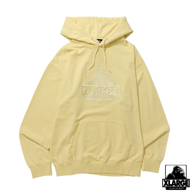 XLARGE EMBROIDERY OG PULLOVER 連帽上衣-黃