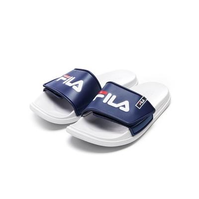 FILA SLEEK TENDER VELCRO 中性拖鞋-藍/白 4-S636V-422
