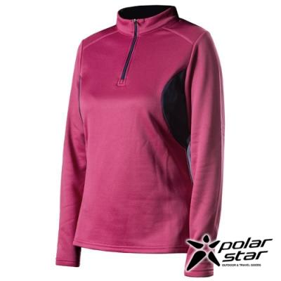 PolarStar 女 高領拉鍊保暖衣『酒紅』P19216