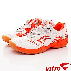Vitro韓國專業運動品牌-NIVA-FLEX羽球鞋-白橘(女)_0