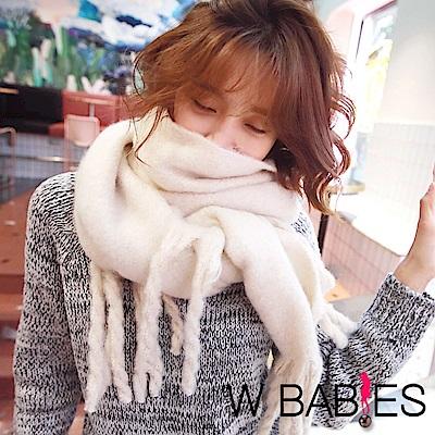 正韓 亮彩蠟筆色辮子流蘇圍巾 (共八色)-W BABIES