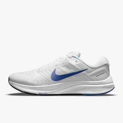 NIKE AIR ZOOM STRUCTURE 24 男慢跑鞋-白藍-DA8535100