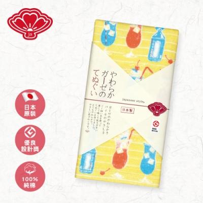 日纖 日本泉州純棉長巾34x90cm(漂浮蘇打)