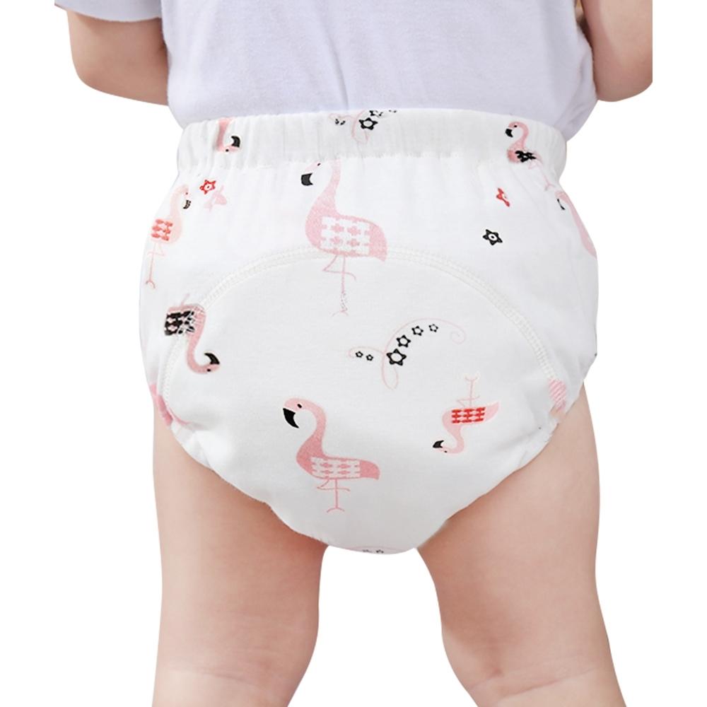 JoyNa【6件入】學習褲 6層紗嬰兒尿布褲 可調式隔尿褲