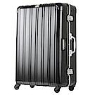 日本 LEGEND WALKER 6201L-69-28吋 電子秤行李箱 消光黑