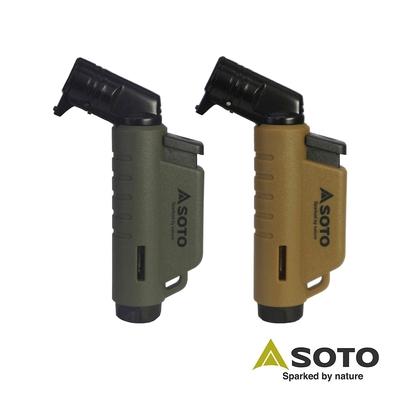 日本SOTO L型填充式掌中點火器 ST-486AG(軍綠)/ST-486CT(狼棕)