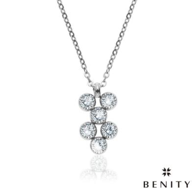 BENITY 豢養愛情 八心八箭CZ美鑽 316白鋼 女鍊