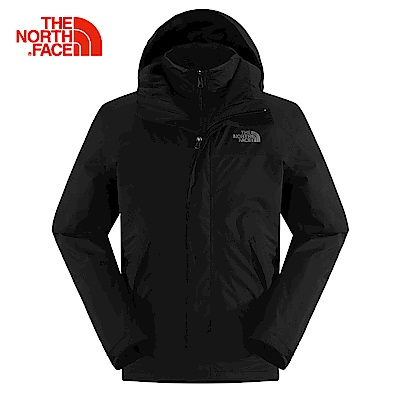 The North Face北面男款黑色GORETEX三合一夾克 CTS2KX7