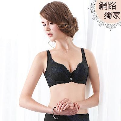 曼黛瑪璉-15AW-Hibra大波穩定內衣  D-H罩杯(黑)