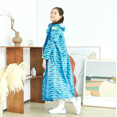 RAINSTORY龐克鯊魚連身甜美雨衣(M號)