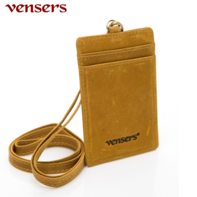【vensers】小牛皮潮流識別證夾~(NB000602瘋馬皮)