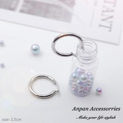 【ANPAN愛扮】日韓經典CLASSIC百搭圓圈耳釘式耳環-大2.5cm
