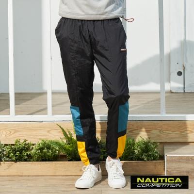 Nautica COMPETITION雙色拼接休閒褲-黑色
