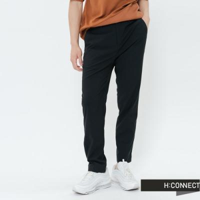 H:CONNECT 韓國品牌 男裝-側鬆緊素面修身西裝褲-黑