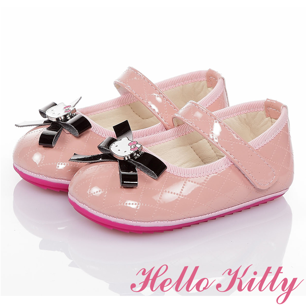 HelloKitty童鞋 氣質手工款高級超纖皮減壓寶寶學步鞋-粉