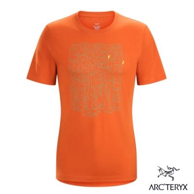 Arcteryx 始祖鳥 24系列 男 Block 有機棉 短袖T恤 茶棕