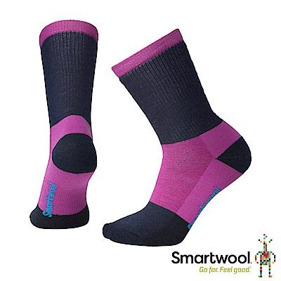 SmartWool 女 中級減震型徒步中長襪 粉霧紫