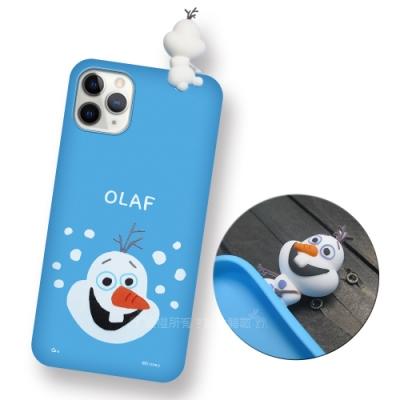 迪士尼授權正版 iPhone 11 Pro Max 6.5吋 趴姿公仔手機殼 親膚軟殼(雪寶)