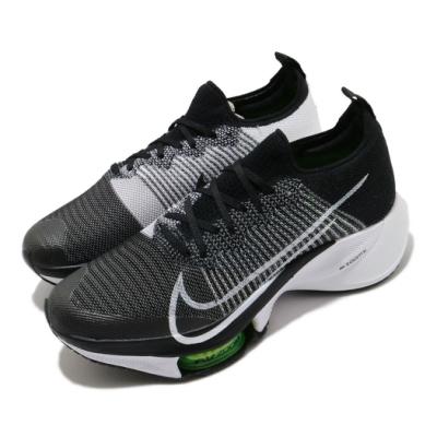 Nike 慢跑鞋 Zoom Tempo Next% FK 男鞋 氣墊 避震 路跑 透氣 舒適 運動 球鞋 黑 白 CI9923001