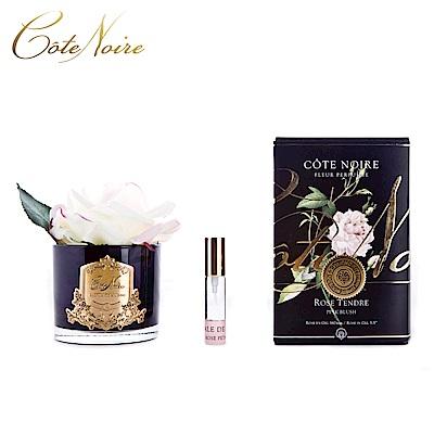 法國 CoteNoire 蔻特蘭 大朵粉白玫瑰香氛花黑瓶