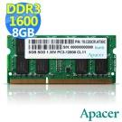 Apacer 8GB DDR3 1600 筆記型記憶體