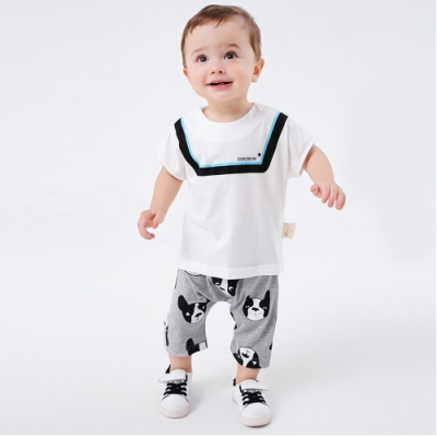 Baby童衣 短袖套裝 休閒印花短袖上衣短褲 LYT28