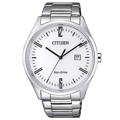 CITIZEN 星辰光動能知性時尚手錶(BM7350-86A)-銀/42mm