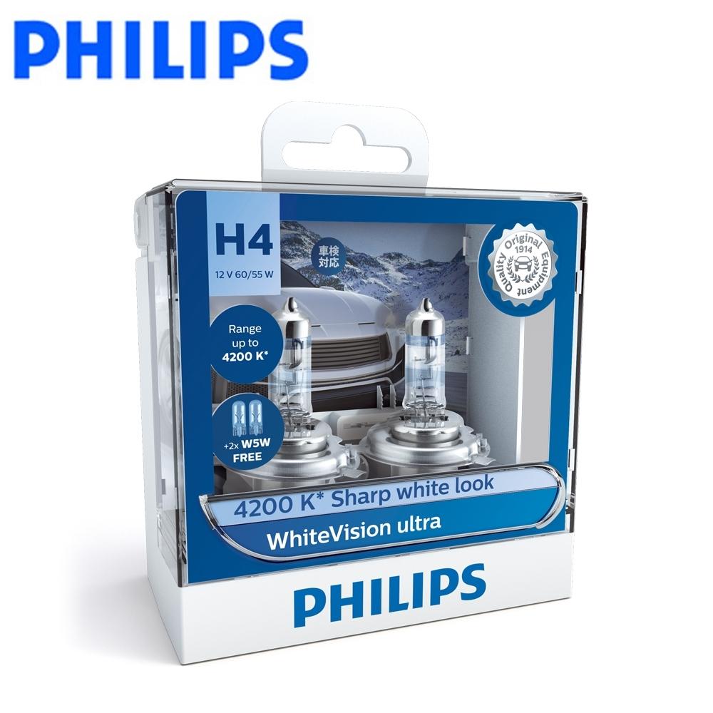 PHILIPS 飛利浦 車燈 雪曜光+亮60% WhiteVision Ultra