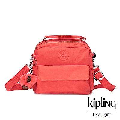 Kipling螢光澄兩用側背後背包