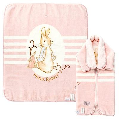 奇哥 經典比得兔嬰兒防踢袖毯禮盒-粉紅