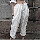 設計所在Style-新款韓版麻料直筒休閒褲九分褲