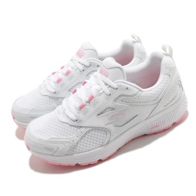 Skechers 慢跑鞋 Go Run Consistent 女鞋 輕量 緩衝 回彈 避震 支撐 透氣 白 粉 128075WPK