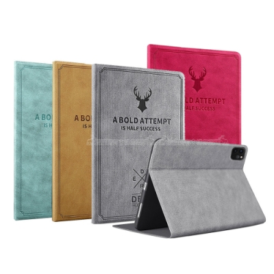VXTRA 2020 iPad Pro 11吋 北歐鹿紋風格平板皮套 防潑水立架保護套