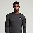 The North Face北面男款黑色吸濕排汗長袖T恤|3RGGKS7